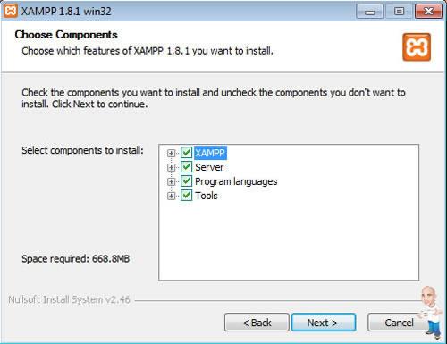 Imagem php servidor xamp components