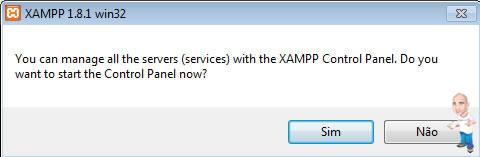 Imagem php servidor xamp inicializar