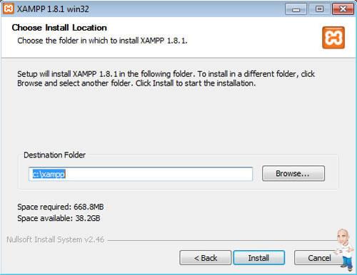 Imagem php servidor xamp location