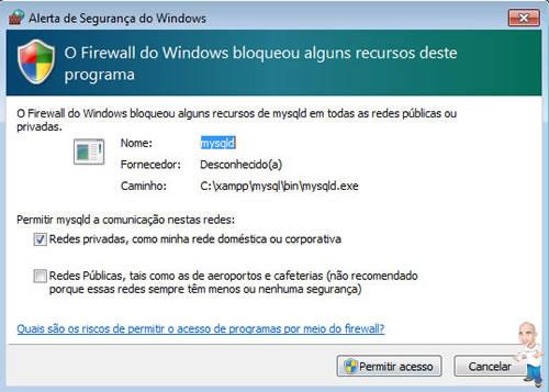 Imagem php servidor xamp permissão 2