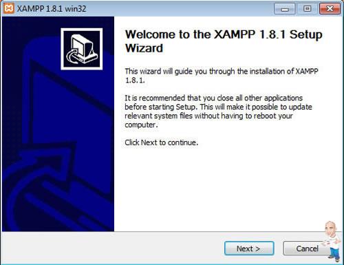 Imagem php servidor xamp welcome