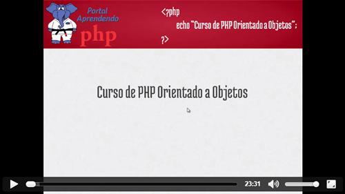 Ver Vídeo da Aula 1 do Curso de PHP Orienta a Objetos