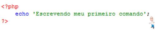 Imagem php comandos echo codigo