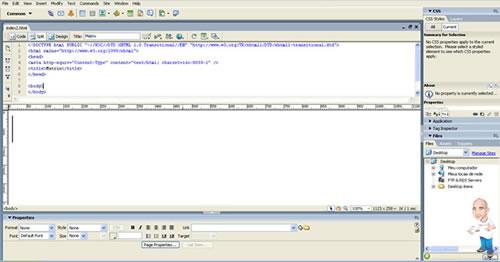 Imagem softwares desenvolvimento php dreamweaver