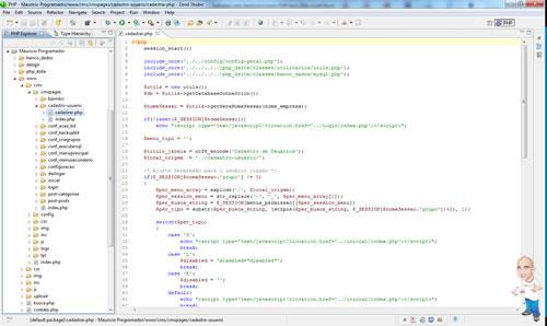 Imagem softwares desenvolvimento php zend studio